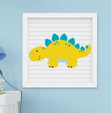 Quadro Infantil Bebê Menino Dinossauro Dino