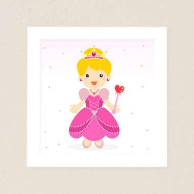 Quadro Infantil Princesa
