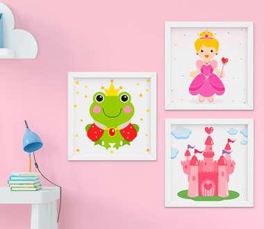 Quadrinho Infantil Bebê Menina Princesa Kit 3 Peças