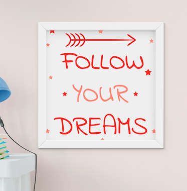 Quadro Infantil Raposinha Follow Your Dreams