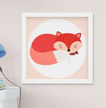Quadro Infantil Quarto Bebê Menina Menino Raposinha Fox