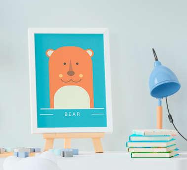 Quadro Infantil Urso Bear