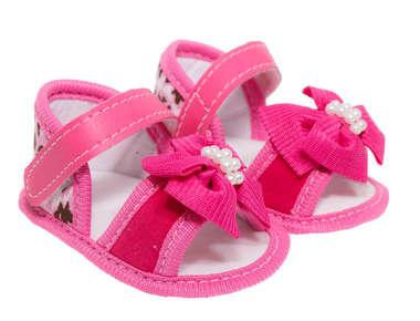 Sandália Bebê Menina Oncinha Rosa Pink