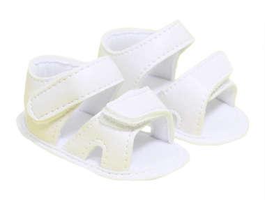 Sandália Bebê Menino Baby Branca