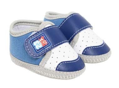 Tênis Bebê Menino Azul e Branco