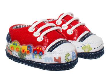 Tênis Bebê Menino Carrinhos Vermelho