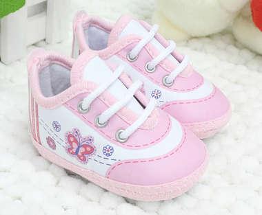 Tênis Bebê Menina Borboleta Rosa