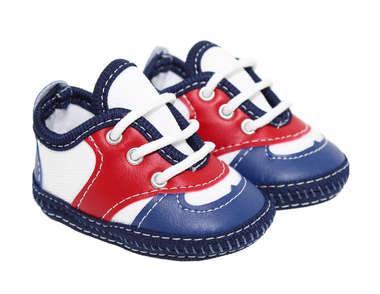 Tênis Bebê Menino Casual Azul e Vermelho