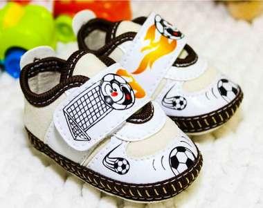 Tênis Bebê Menino Futebol Baby Marrom