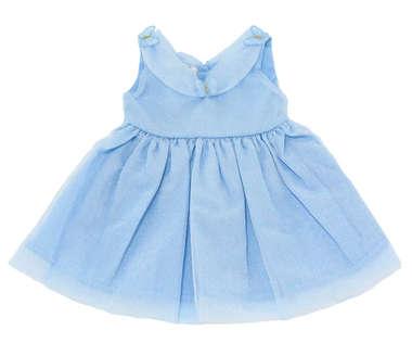 Vestido Bebê Princesas Azul