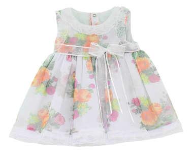 Vestido Bebê Primavera Branco