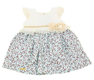 Vestido Bebê Coração Pérola