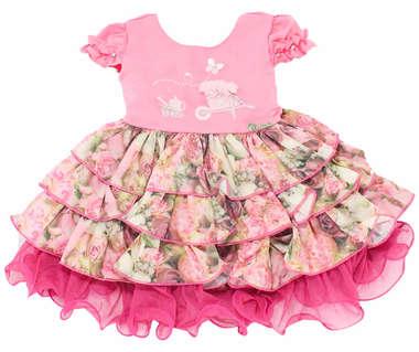 Vestido Bebê Garden Rosa