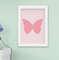 Kit Quadro Infantil Bebê Menina Floral Borboleta Coração 3 Peças