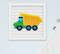 Quadro Bebê Infantil Menino Caminhão Trem Kit 3 Peças