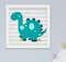 Quadro Bebê Infantil Menino Dinossauro Seja Forte 3 Peças