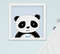 Quadro Bebê Menino Panda Elefante Nuvem Kit 3 Peças