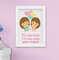 Quadro Infantil Bebê Menina Irmãs Nuvem Santo Anjo Kit 4 Peças