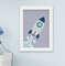 Quadro Infantil Bebê Menino Espaço Astronauta Foguete Kit 4 Peças