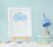 Quadro Infantil Quarto Bebê Menino Chuva de Amor Kit 3 Peças