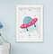 Quadro Infantil Quarto Bebê Menino Astronauta Kit 6 Peças