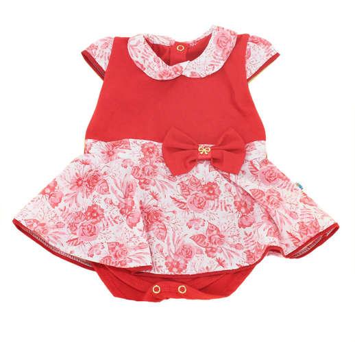 ba89f63915 Body Saia Bebê Menina Primavera Vermelho
