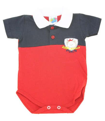 848e35d1c7a Body Bebê Menino Camisa Polo Little Vermelho