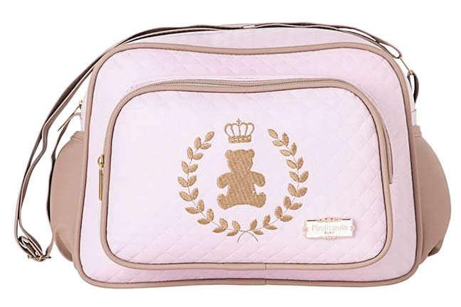 dd6f972722f Bolsa Maternidade Bebê Ursinha Realeza Rosa Pequena