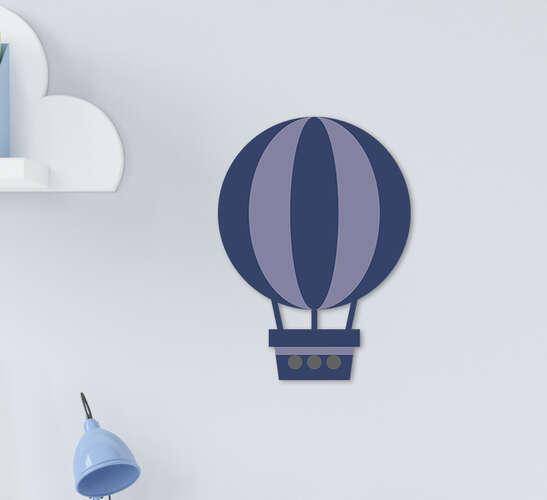 Placa Decorativa Infantil Menino Balão Azul